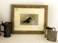 Black Labrador carrying a duck - Lab S2-   1930's print by Vernon Stokes